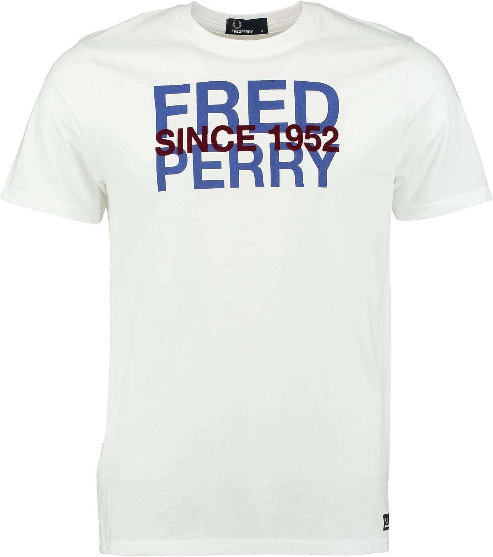 Fred Perry - Camiseta - para hombre Blanco blanco: Amazon.es ...
