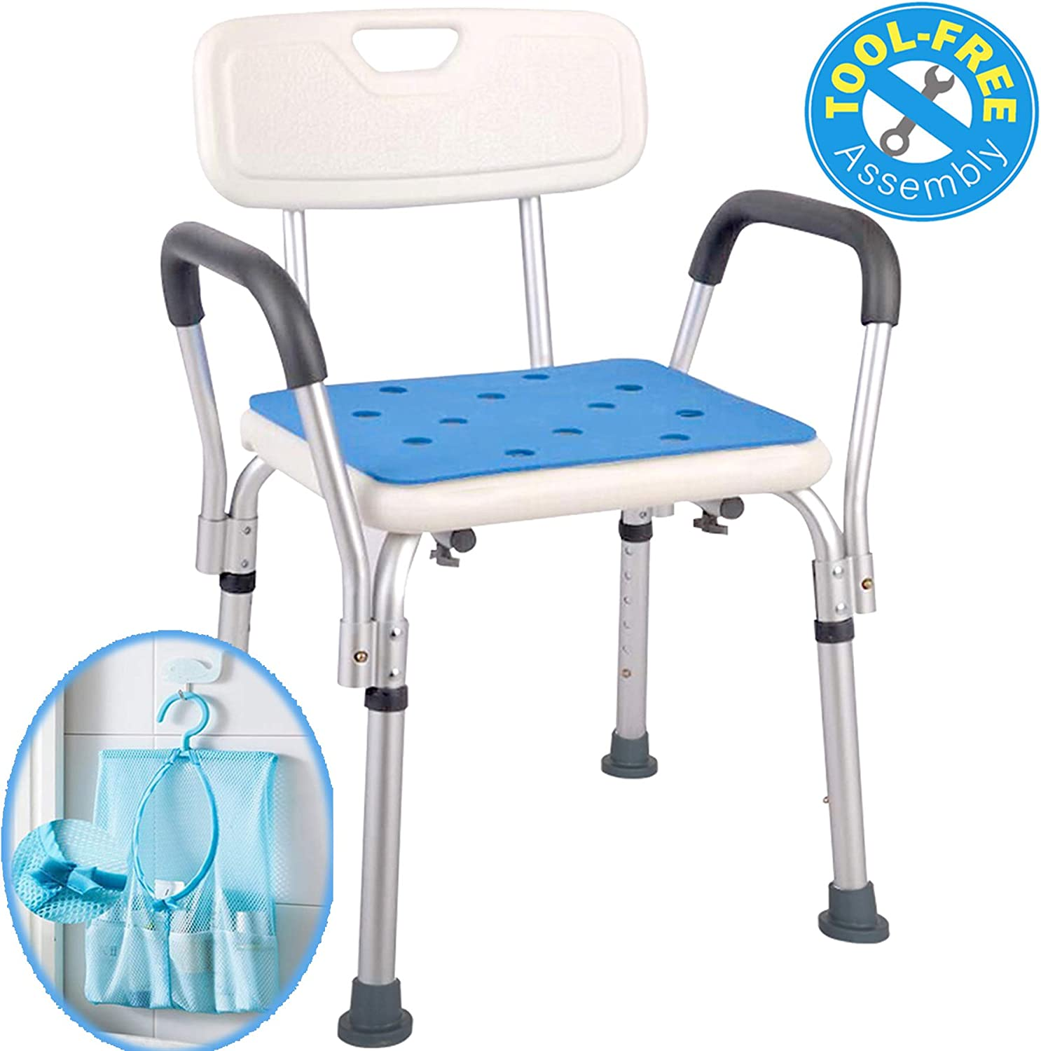 Medokare Shower Chair with Rails - Shower Seat