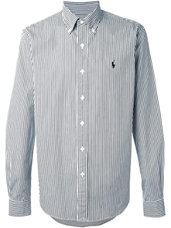803eceae49597e Ralph Lauren Mens Striped Long Sleeves Button-Down Shirt B/W S at Amazon  Men's Clothing store: