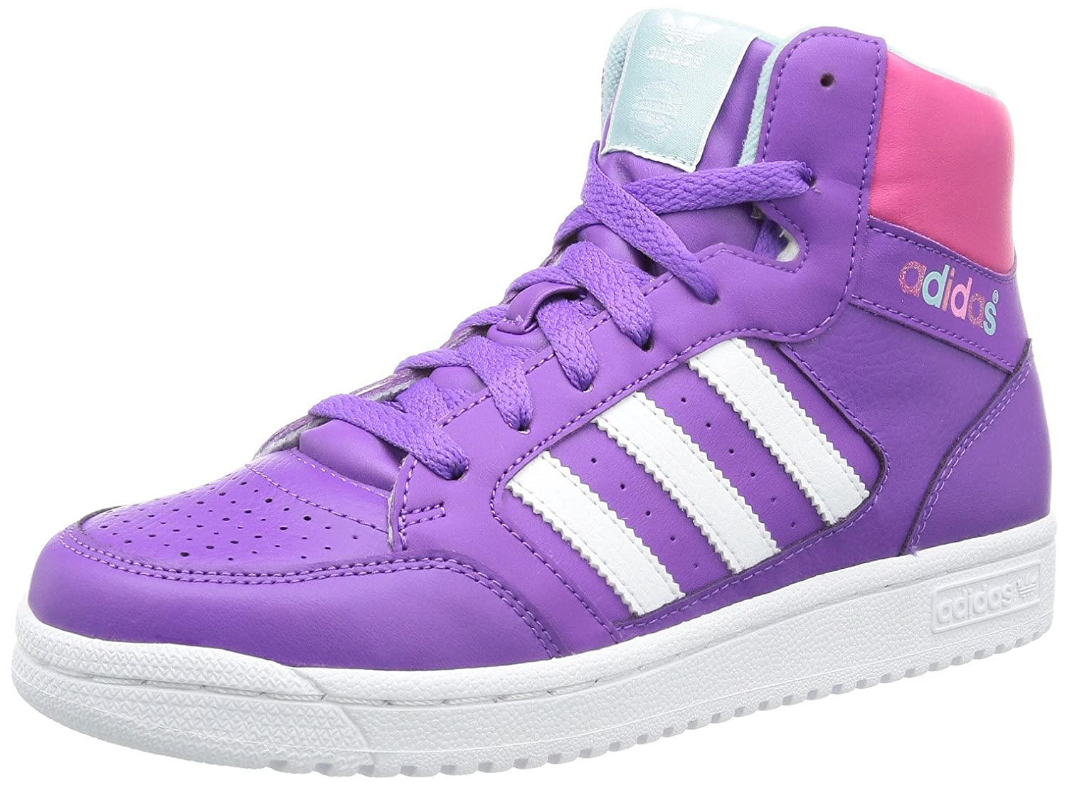 adidas girls. adidas girls pro play high top purple violett (running white ftw/ray f13/blast pink f13) size: 12.5 (31 eu): amazon.co.uk: shoes \u0026 bags e