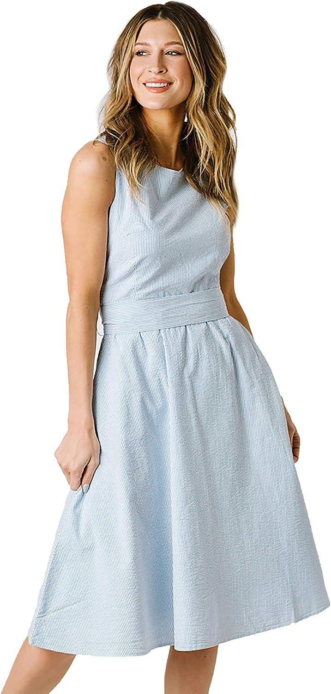 Hope Henry Women S A Line Seersucker Dress At Amazon Women S