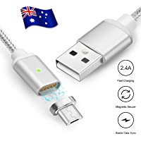 Braided Magnetic Plug Micro USB Charging Cable for Samsung Type C S7 S8 S9 Plus