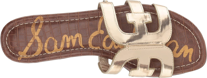 Sam Edelman Women's Bay Slide Sandal B07DKDH4Q7 8 M US|Molten Gold/Liquid Gold