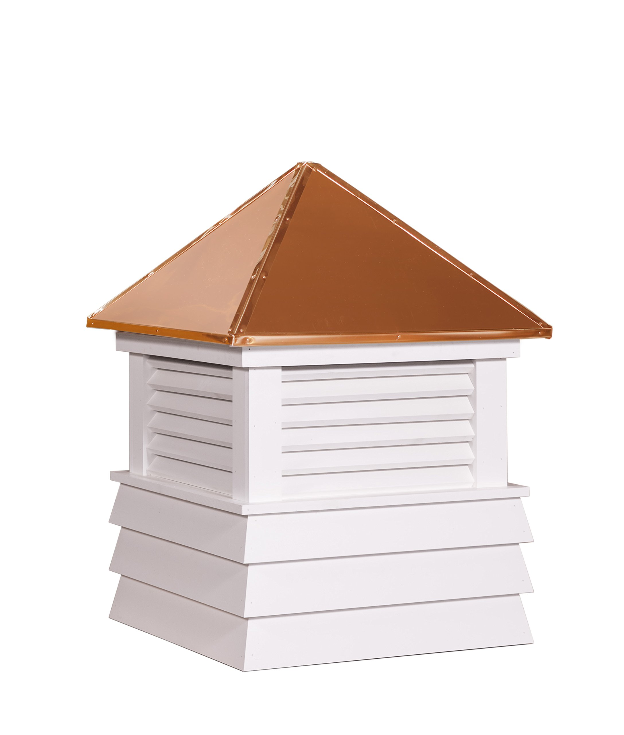East Coast Weathervanes and Cupolas Vinyl Pembroke Cupola (vinyl, 25 in square x 34 in tall)
