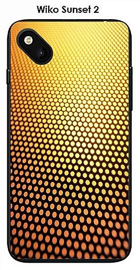 Onozo Carcasa Wiko Sunset 2 Design Degrade Oro & Negro ...