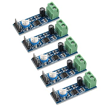 HALJIA 5 PCS LM386 Módulo Amplificador de Audio 200 Veces 5-12V 10K Resistencia Ajustable