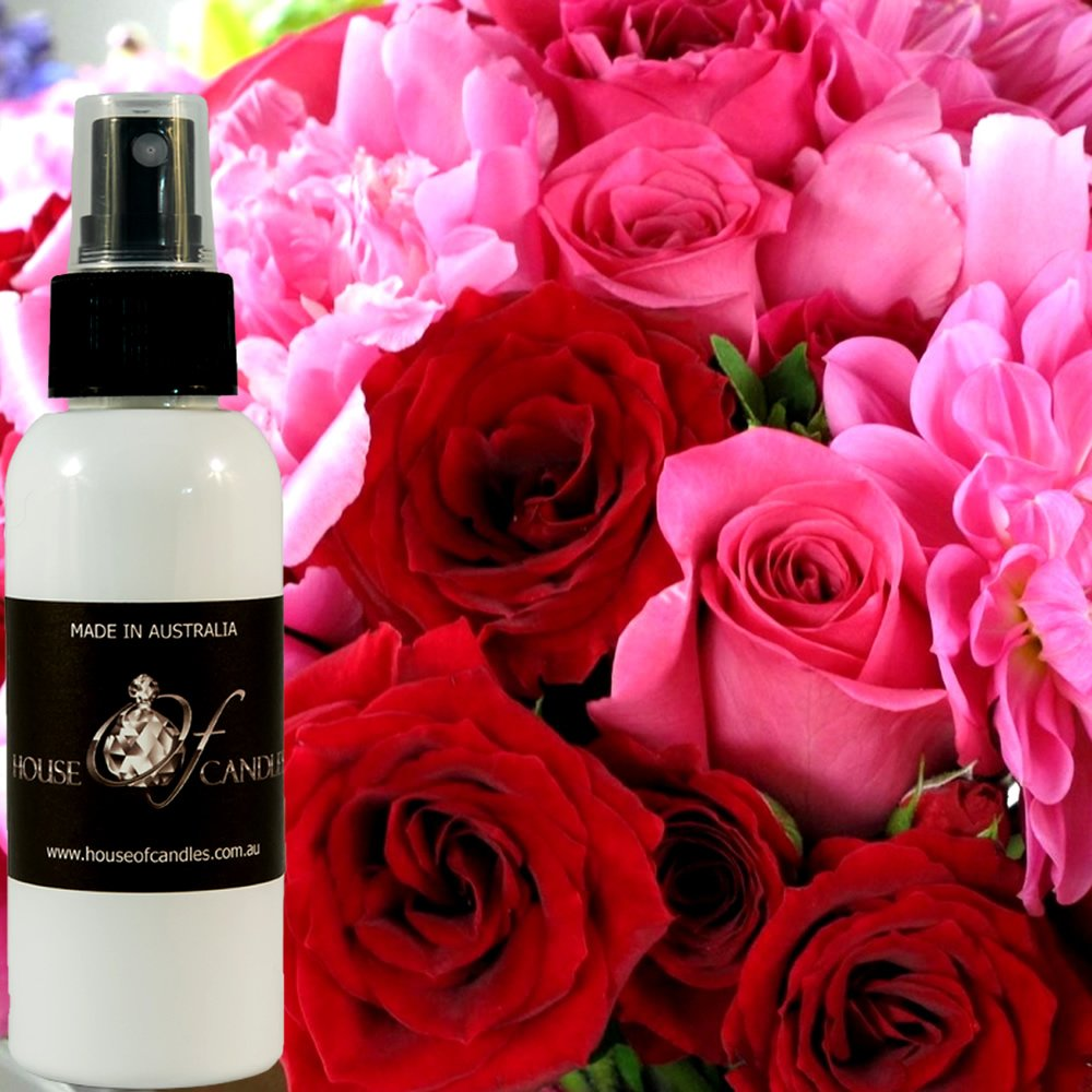 Peony Rose Room Air Freshener & Deodoriser Spray XSTRONG 50ml/1.7oz Vegan & Cruelty Free House Of Candles