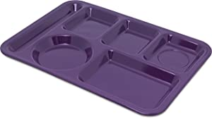 Carlisle 4398087 Left-Hand Heavy Weight 6-Compartment Cafeteria/Fast Food Tray, 10