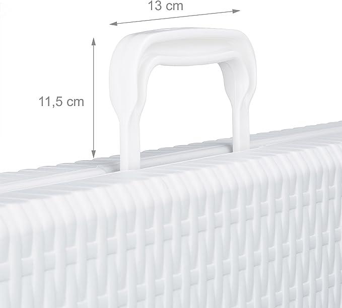 Mesa de Acampada Blanco Relaxdays jard/ín Bastian Plegable 74 x 187 x 72 cm asa 72 x 178 x 74 cm