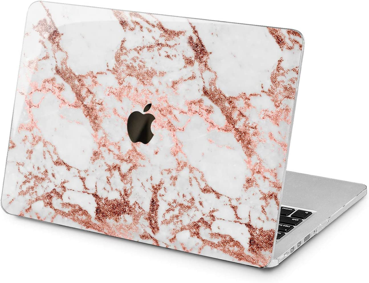 """Cavka Hard Shell Case for Apple MacBook Pro 13"""" 2019 15"""" 2018 Air 13"""" 2020 Retina 2015 Mac 11"""" Mac 12"""" Protective Bronze Marble Glam Print Stone Plastic Laptop Design Abstract Cover Pattern Stylish"""