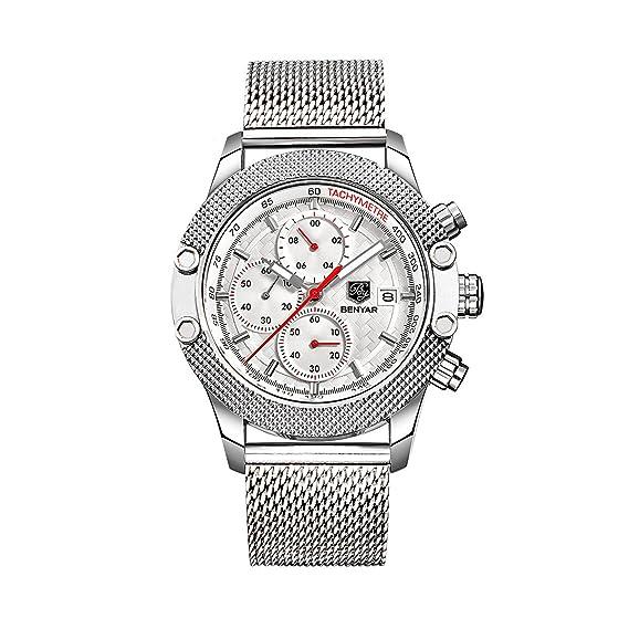 Reloj de los hombres de los relojes del análogo de cuarzo de los hombres del cronógrafo
