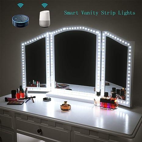 Amazon com: Smart LED Vanity Mirror Lights Work with Alexa
