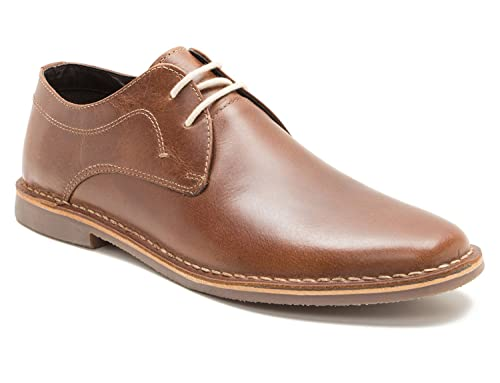 Red Tape Yuma Mens Tan Brown Leather Gibson Shoes
