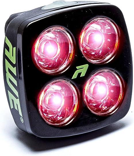 Luz trasera para bicicleta AWE®, con 4 luces LED, batería ...