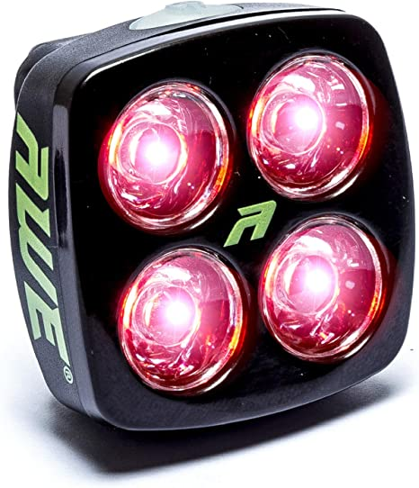 Luz trasera para bicicleta AWE®, con 4 luces LED, batería recargable por USB, 40 lúmenes: Amazon.es: Deportes y aire libre