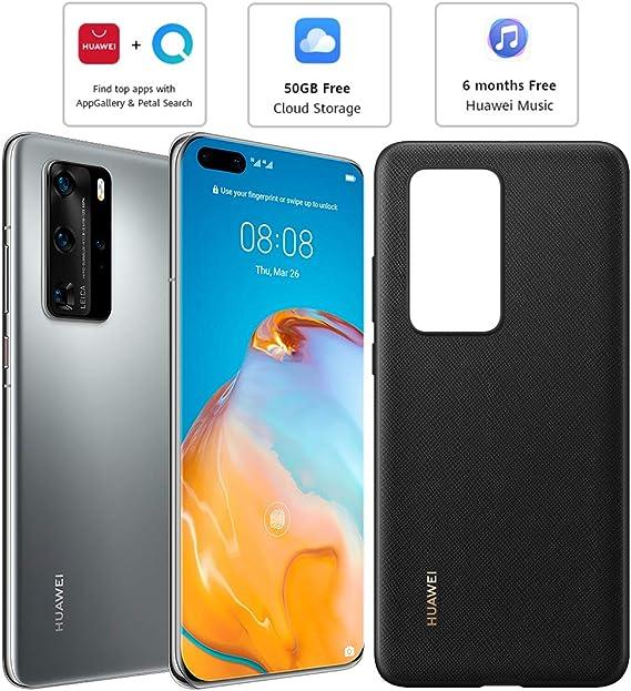 Huawei P40 Pro (5G) ELS-NX9 Dual/Hybrid-SIM 256 GB (sólo GSM   No CDMA) Smartphone desbloqueado de fábrica (Silver Frost) – Versión internacional: Amazon.es: Electrónica