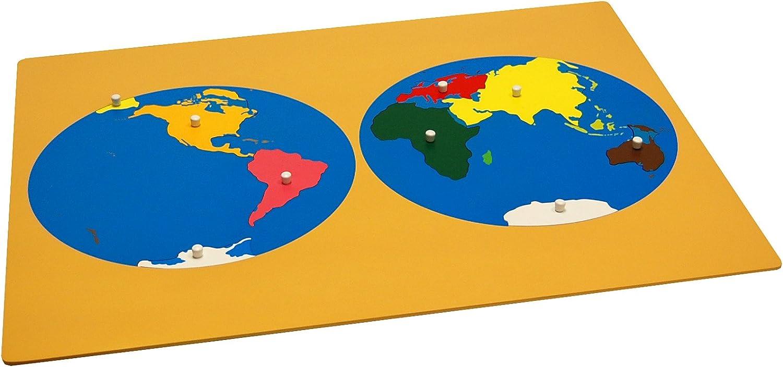 B003LM8XVM Kid Advance Montessori Puzzle Map of World Parts 71ENIeVElaL