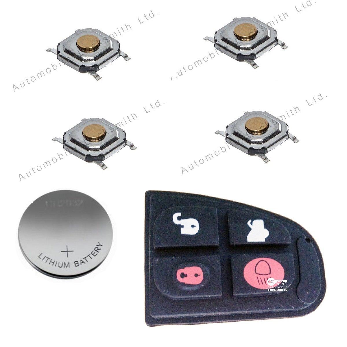 Automobile Locksmith Juego de reparaci/ón para Llave con 4 Botones Apto para Jaguar
