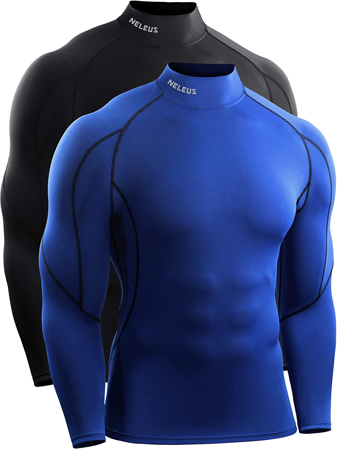 Neleus Men's Quick Dry Long Sleeve Compression Shirt