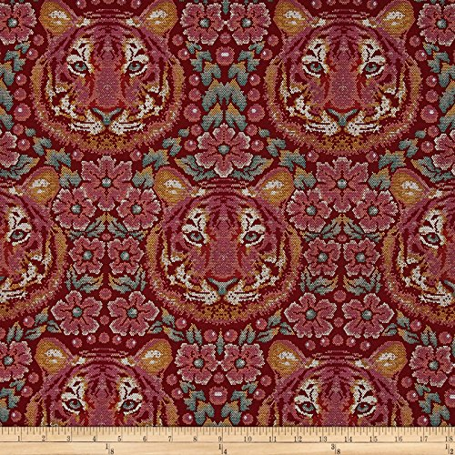 Spirit Tiger - Free Spirit Tula Pink Eden Crouching Tiger Tourmaline Fabric By The Yard
