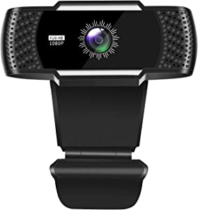 ?Upgraded? 1080P Web Cam with Microphone Computer Web Camera HD USB Webcam for PC Desktop & Laptop Streaming Video Cam