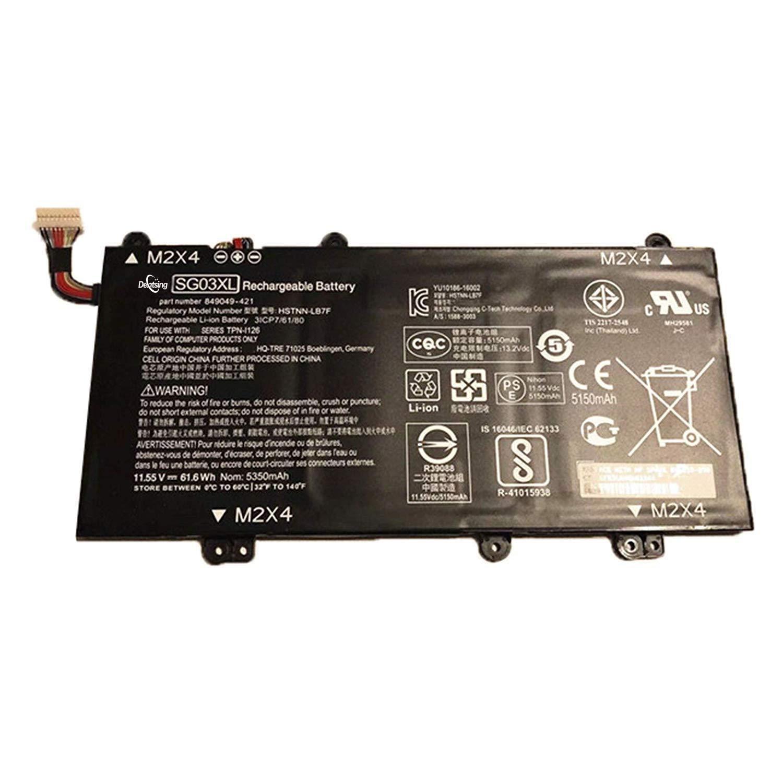Dentsing Compatible/Replacement Laptop Battery for HP SG03XL (5350mAh/61.6Wh) HSTNN-LB7F Envy 17t-U000 Touch 849315-856 Y7C72AV_1 LB7F I126 Laptop Battery