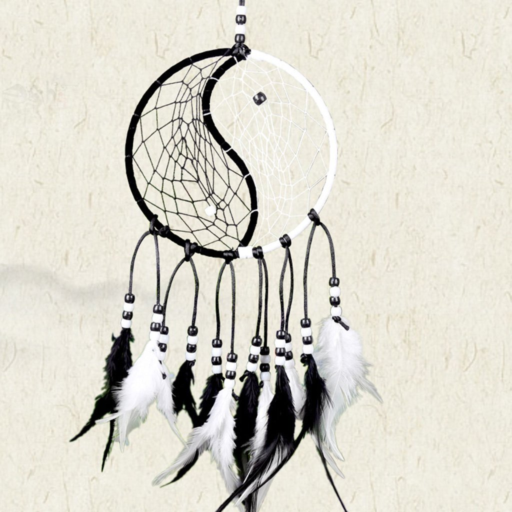 JAGENIE Handmade Dream Catcher with Feathers Car Wall Hanging Decoration Ornament Gift