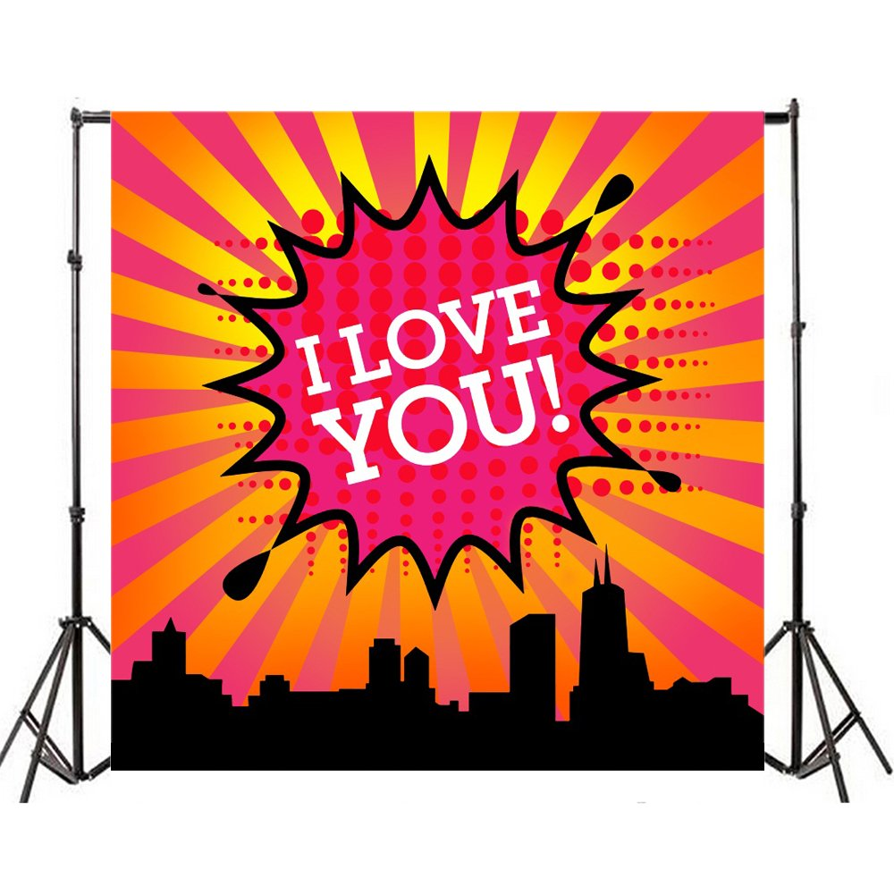 Yeele 10x10フィート スーパーヒーロー シティー 写真背景 ビニール ユーモア 漫画 コミック ジャスティス スーパーヒーロー ベビーシャワー パーティー 写真背景 都市 ビルディング 女の子 子供 誕生日 パーティー スタジオ小道具 カスタマイズ可   B07CP9RXZ9