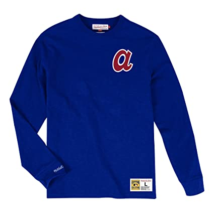 new style ec4e4 c6c08 Amazon.com : Mitchell & Ness Atlanta Braves MLB Men's Win ...