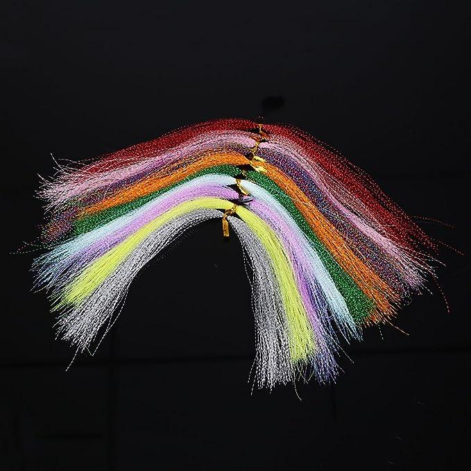 Fenghong Fliegen Angelschnur 100 St/ücke Kristall Angelschnur Bindematerial 30 cm Tackle K/öder Linien Farbe Zuf/ällig