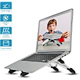 Laptop Stand Tablet Stand Megainvo Adjustable Laptop Stand Ventilated iPad Stand Ergonomic Desktop Stand Portable Laptop Cooling Stand Universal Notebook Stand Holder for Laptop PC iPad Tablet Book Aluminum Silver