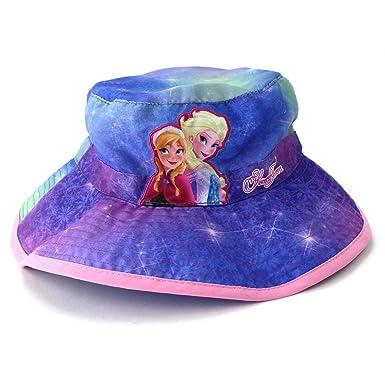 Amazon.com  Frozen Elsa Anna Toddler Girls Blue Bucket Hat  Clothing c241f1cc003