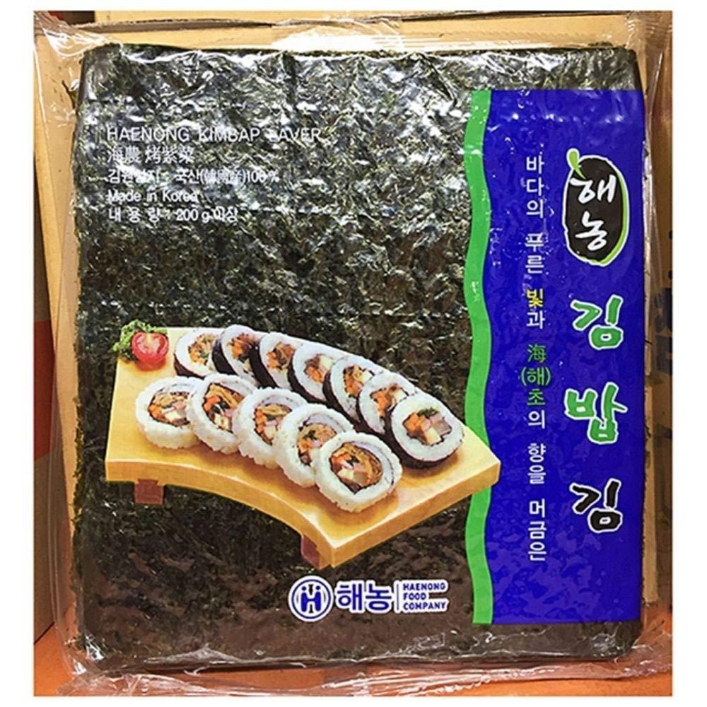 Seaweed Kimbap roasted kimbap Kim 100 pieces 200g 1EA, Product of Korea