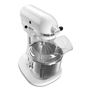KitchenAid KSM500PSWH Pro 500 Series 10-Speed 5-Quart Stand Mixer, White