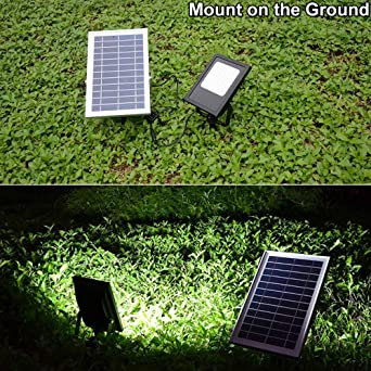 Solar Lights Outdoor 120LED Solar Flood Light Weatherproof Solar Powered Lights Solar Flood Lights Outdoor Auto On/Off Solar Security Light for Yard Patio ...