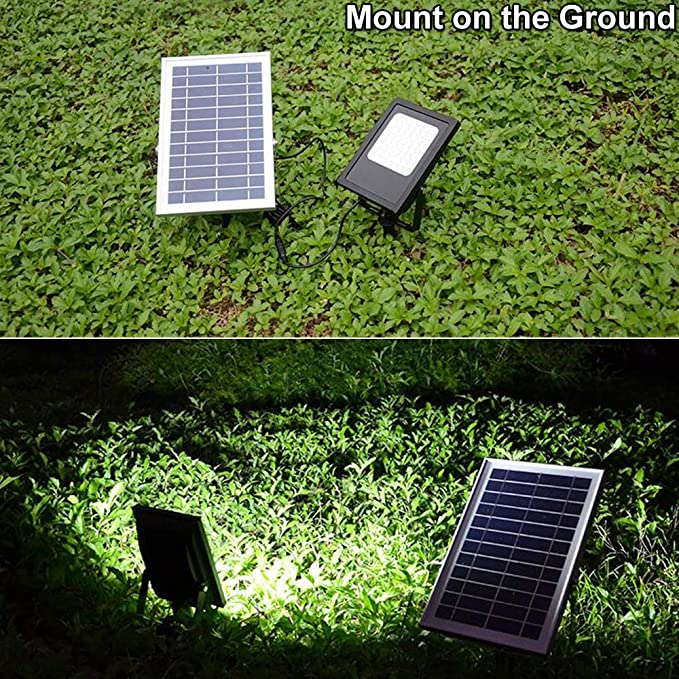 Solar Lights Outdoor 120LED Solar Flood Light Weatherproof Solar Powered Lights Solar Flood Lights Outdoor Auto On/Off Solar Security Light for Yard Patio ...