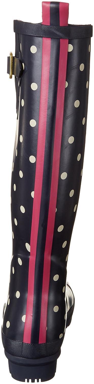 Joules Women's Welly Print Rain Boot B07F1BVBG2 6 B(M) US Navy Spot White