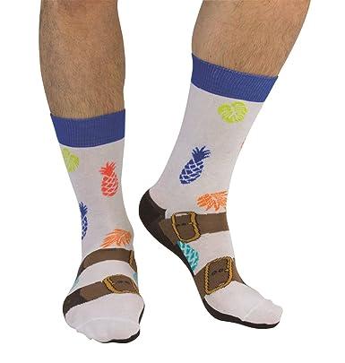 62600f71c1d Cockney Spaniel Chaussettes amusantes pour hommes Sandales  Amazon.fr   Vêtements et accessoires