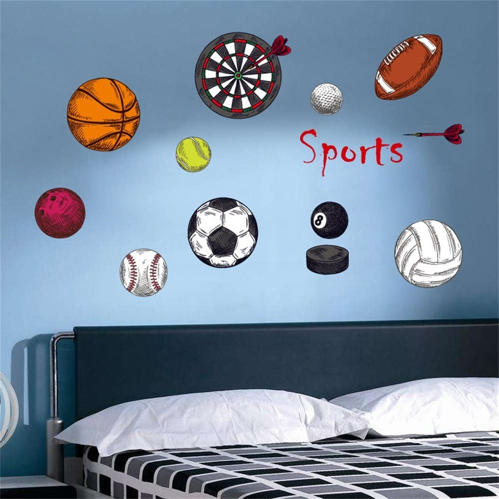 Rugby Balls Sport Vinyl Wall Art Sticker Decal Boys Girls Bedroom Home Decor