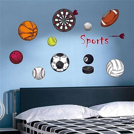 Adesivi Murali Ragazzi.Decalmile Sport Ragazzo Adesivi Murali Pallacanestro Rugby