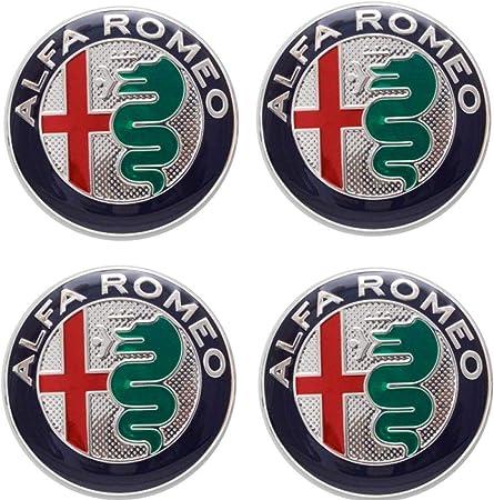 60mm diameter x4 Protrex UK Alloy Wheel Centre Caps GTV Alfasud 4C Mito Giulia Veloce Giuletta Spider Stelvio Quadrifoglio