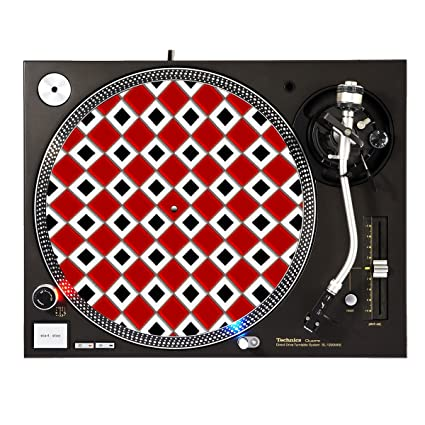 Amazon.com: Red White Checkerboard - DJ Turntable Slipmat: Musical Instruments