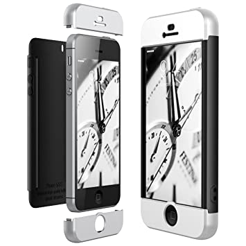 CE-Link Funda iPhone SE/iPhone 5 / iPhone 5s, Carcasa Fundas para iPhone SE/iPhone 5 / iPhone 5s, 3 en 1 Desmontable Ultra-Delgado Anti-Arañazos Case ...