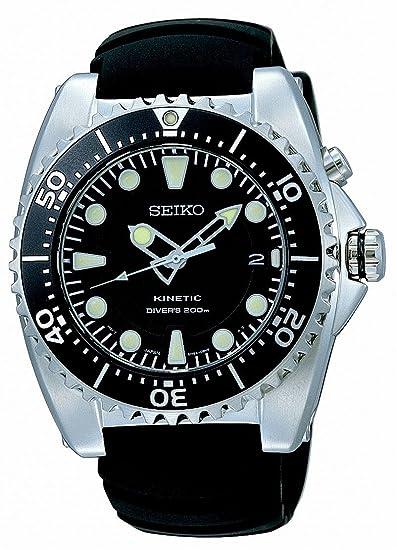 Seiko Divers SKA371P2 - Reloj analógico automático para hombre, correa de acero inoxidable color negro