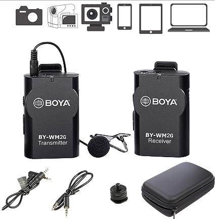Amazon Com Boya By Wm2g Wireless Lavalier Microphone System