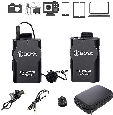 Sistema de micrófono inalámbrico Lavalier BOYA BY-WM2G Compatible ...