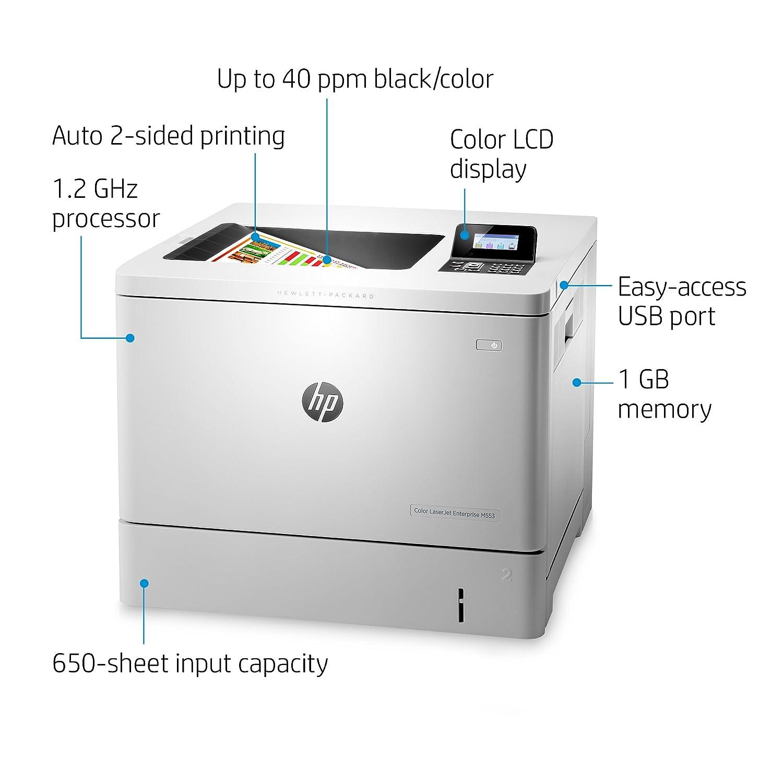 Amazon.com: HP Color B5L25A#BGJ LaserJet Enterprise M553dn with HP ...
