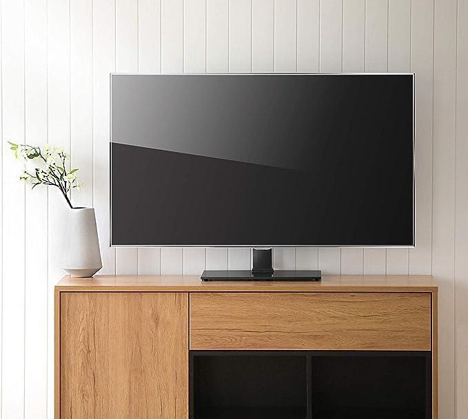 24-32 pulgadas de base universal de TV LCD, soporte soporte del televisor, escritorio soporte de la TV, estante vertical, con 8 mm templado base de cristal y de gestión de cables: Amazon.es: