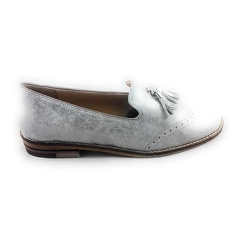 ara - Mocasines para Mujer Plateado Plata, Color Plateado, Talla 36 2/3: Amazon.es: Zapatos y complementos