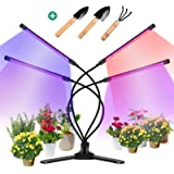 360° Grow Light for Indoor Plants - Gooseneck Full Spectrum Growing Lamp Strip w/ 3 Modes 9 Dimmable Brightness 3/9/12 H Time